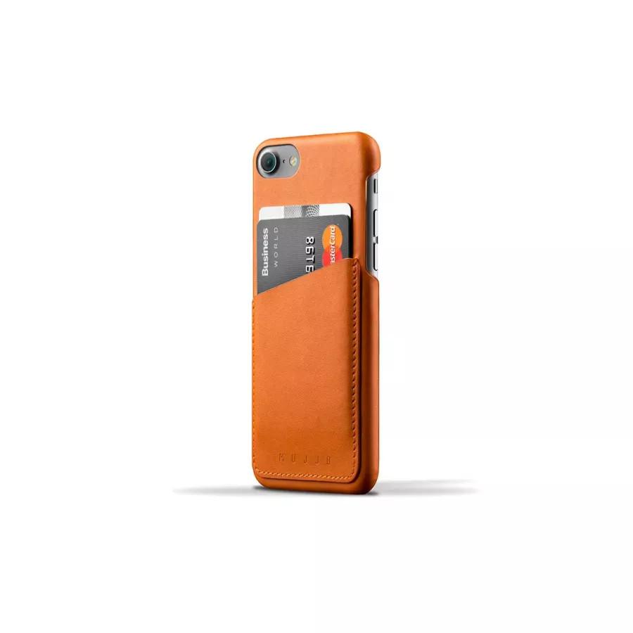 Чехол Mujjo Leather Wallet Case для iPhone 7/8/SE - Светло-коричневый. Вид 1