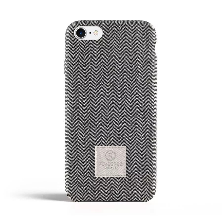 Чехол Revested Timeless Hard для iPhone 7/8/SE - Herringbone Grey. Вид 1