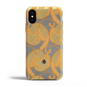 Чехол Revested Silk collection для iPhone X/XS - Gold of Florence. Вид 1