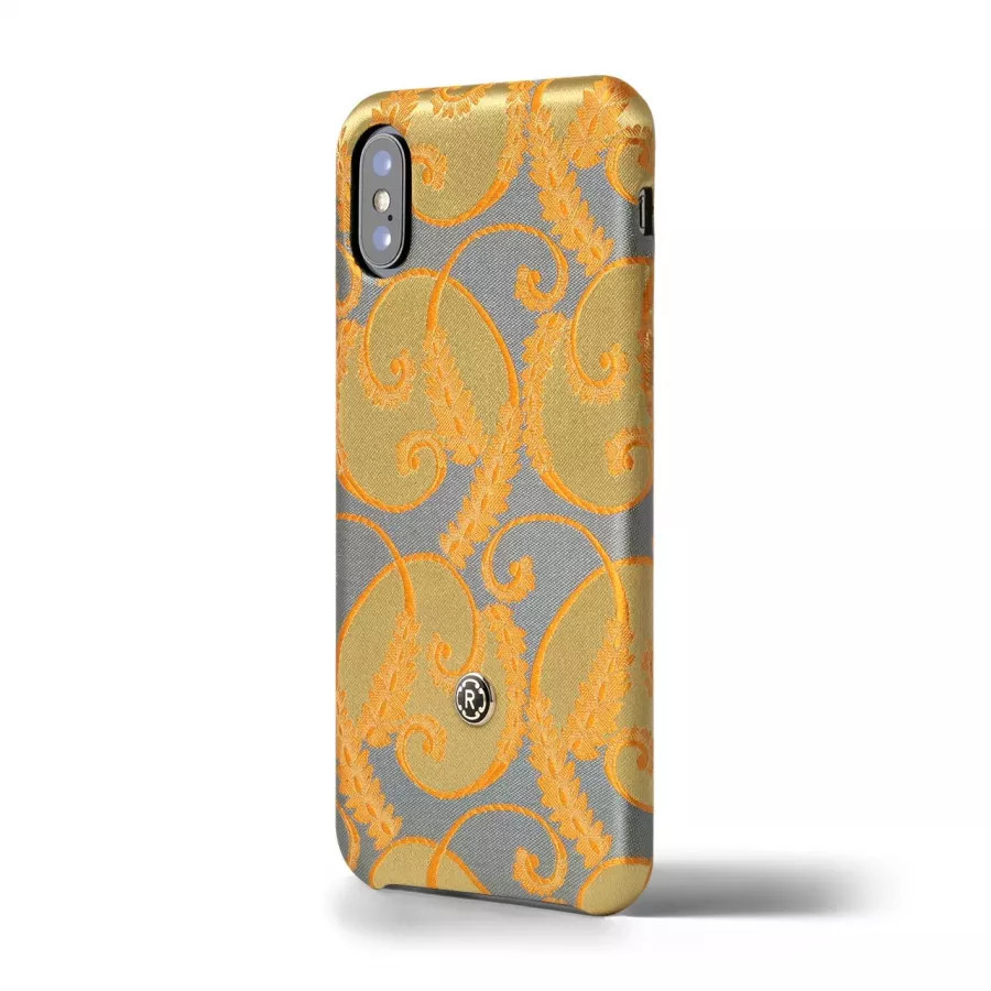 Чехол Revested Silk collection для iPhone X/XS - Gold of Florence. Вид 2