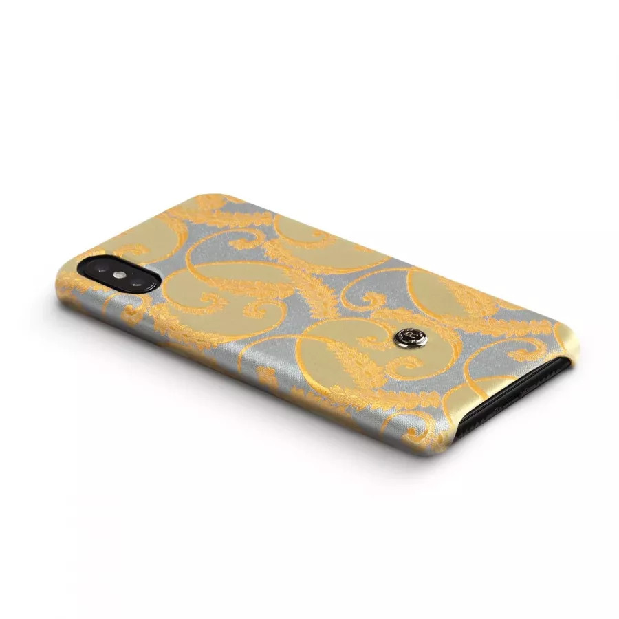 Чехол Revested Silk collection для iPhone X/XS - Gold of Florence. Вид 4