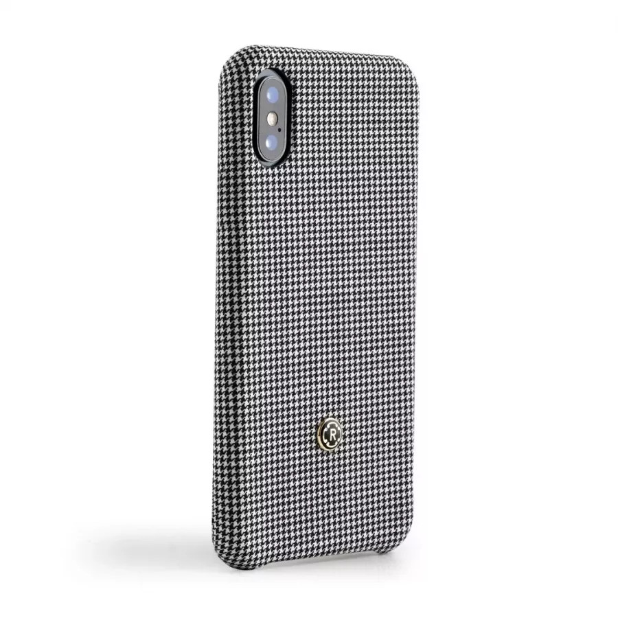 Чехол Revested Timeless Hard для iPhone X/XS - Houndstooth Grey. Вид 2