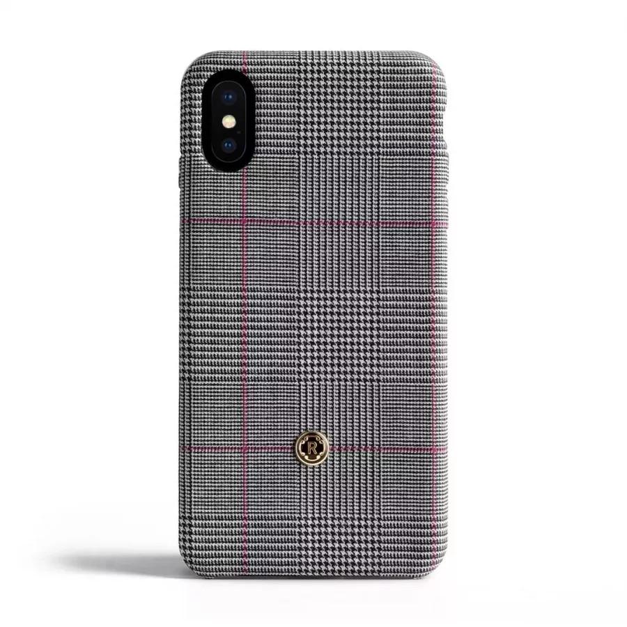 Чехол Revested Timeless Hard для iPhone X/XS - Prince of Wales Grey. Вид 1