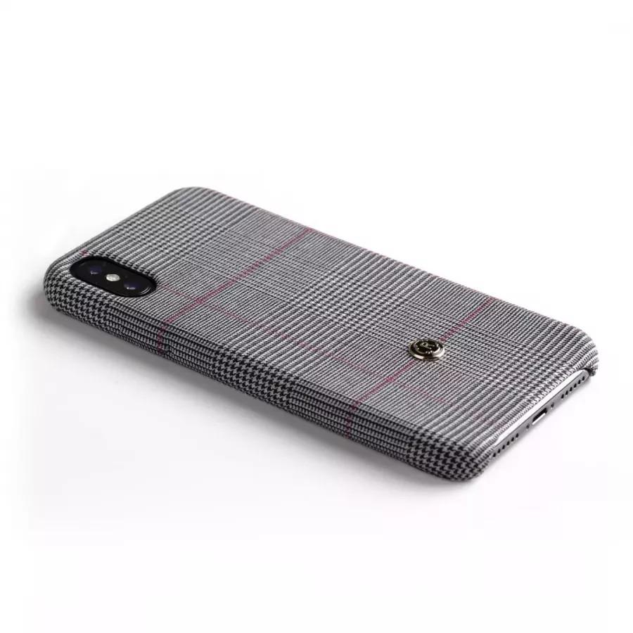 Чехол Revested Timeless Hard для iPhone X/XS - Prince of Wales Grey. Вид 3