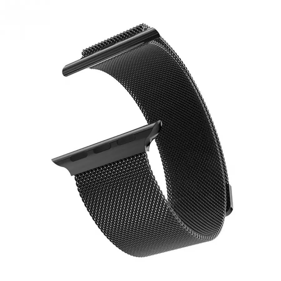 Миланский сетчатый браслет для Apple Watch 42/44mm - Черный. Вид 1