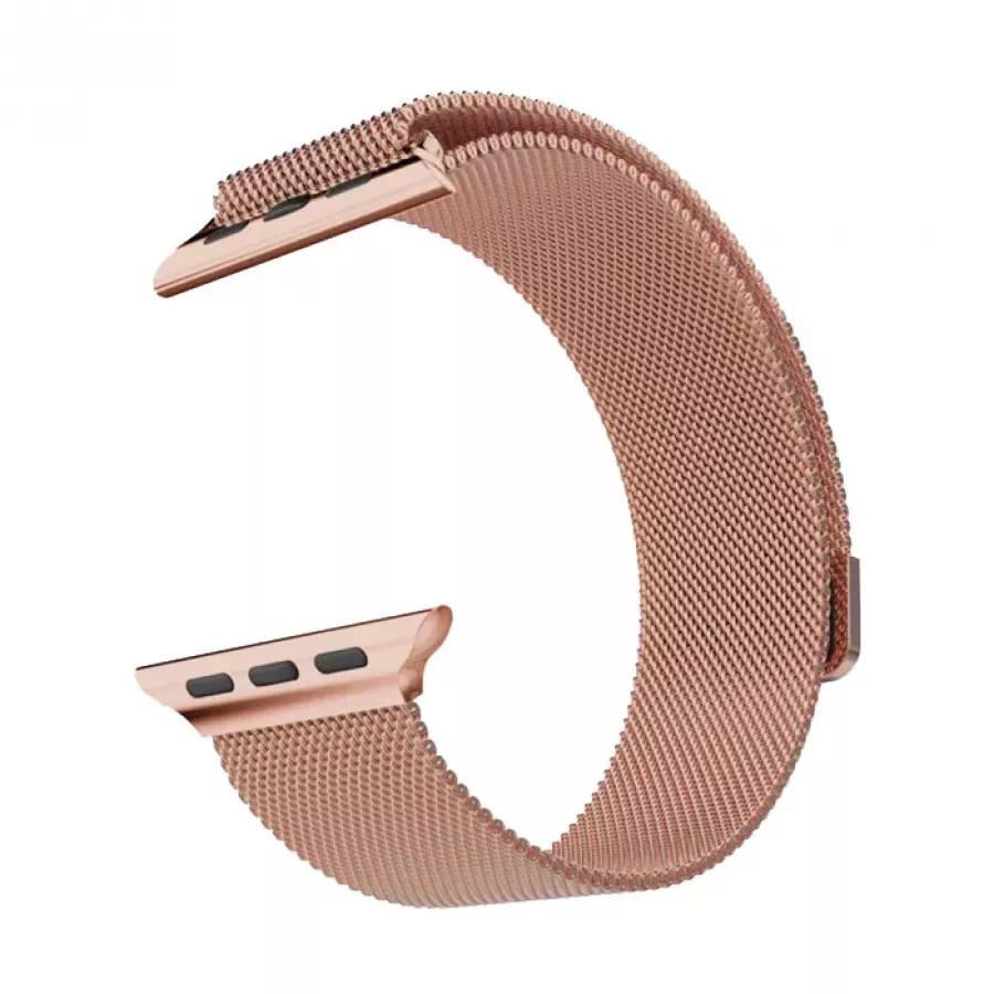 Миланский сетчатый браслет для Apple Watch 42/44mm - Розовое золото. Вид 1