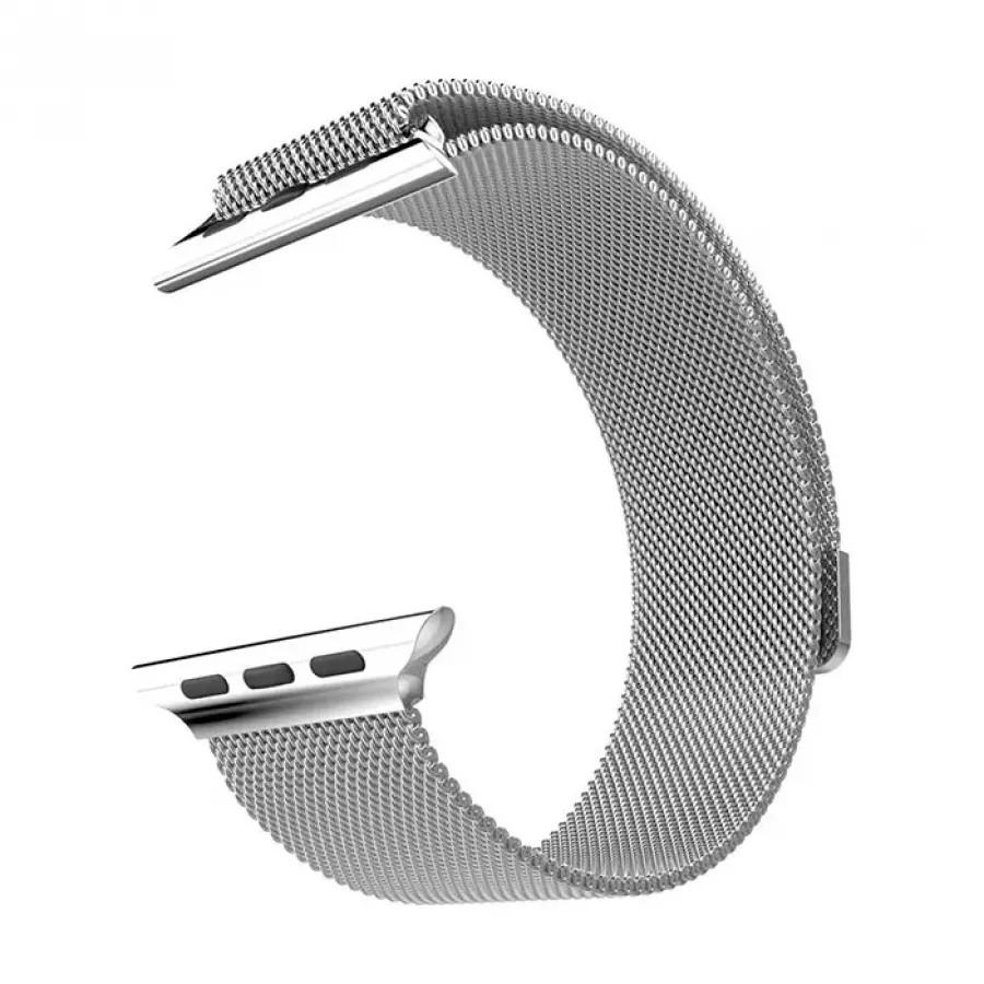 Миланский сетчатый браслет для Apple Watch 42/44mm - Серебристый. Вид 1