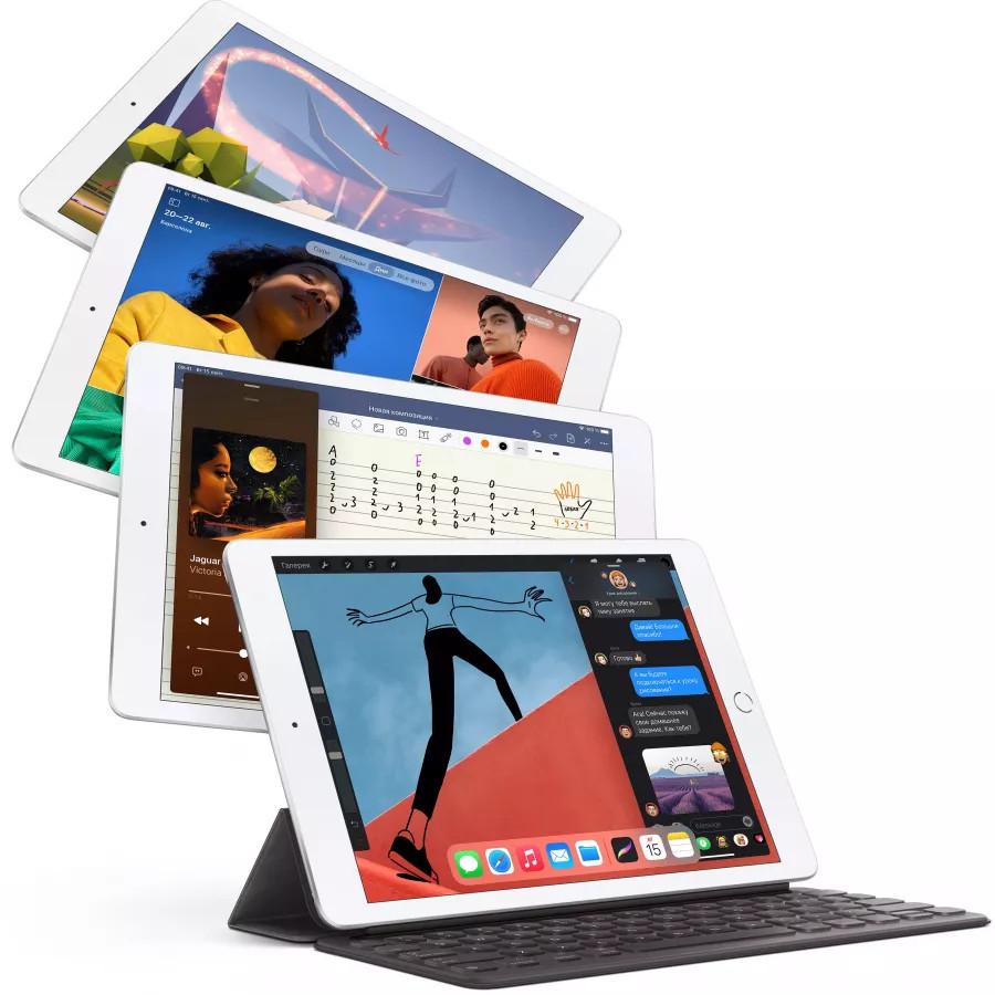 "Apple iPad 8 10.2"" 2020 128ГБ Wi-Fi + Cellular Серебристый. Вид 4"
