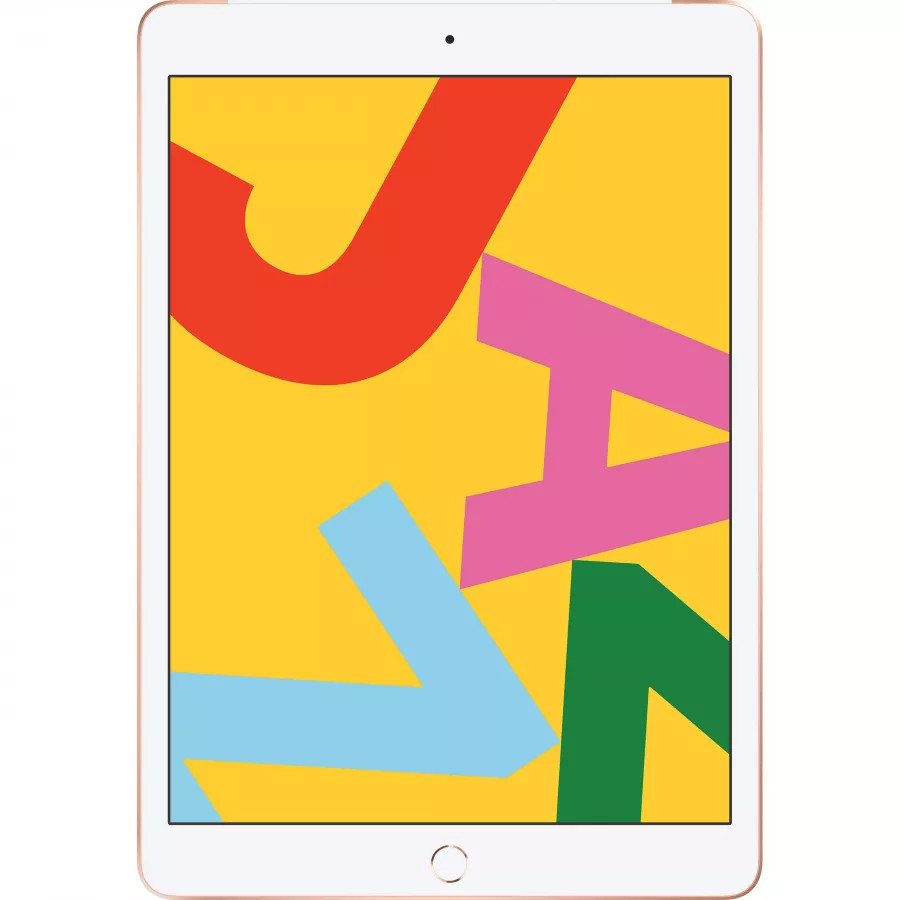 Apple iPad 10.2 (2019) 128ГБ Wi-Fi + Cellular - Золотой (Gold). Вид 1
