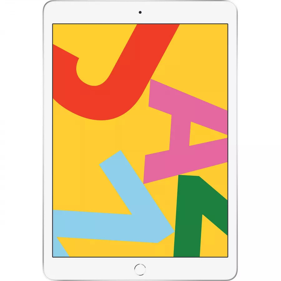 Apple iPad 10.2 (2019) 128ГБ Wi-Fi - Серебристый (Silver). Вид 1