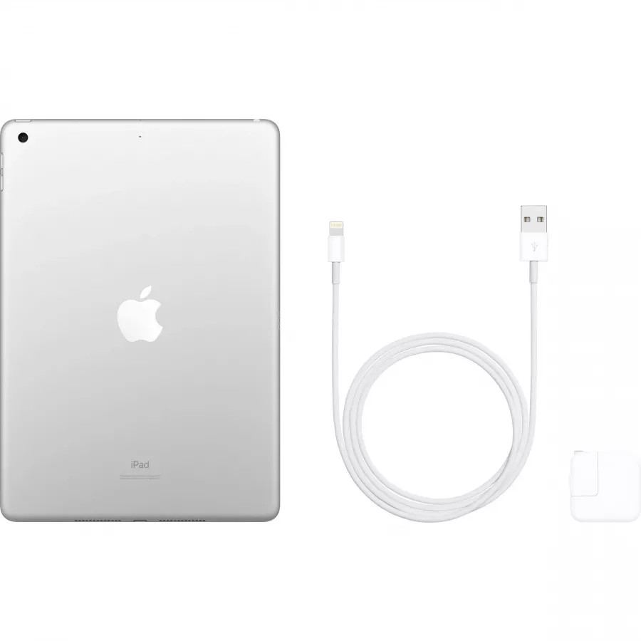 Apple iPad 10.2 (2019) 128ГБ Wi-Fi - Серебристый (Silver). Вид 4