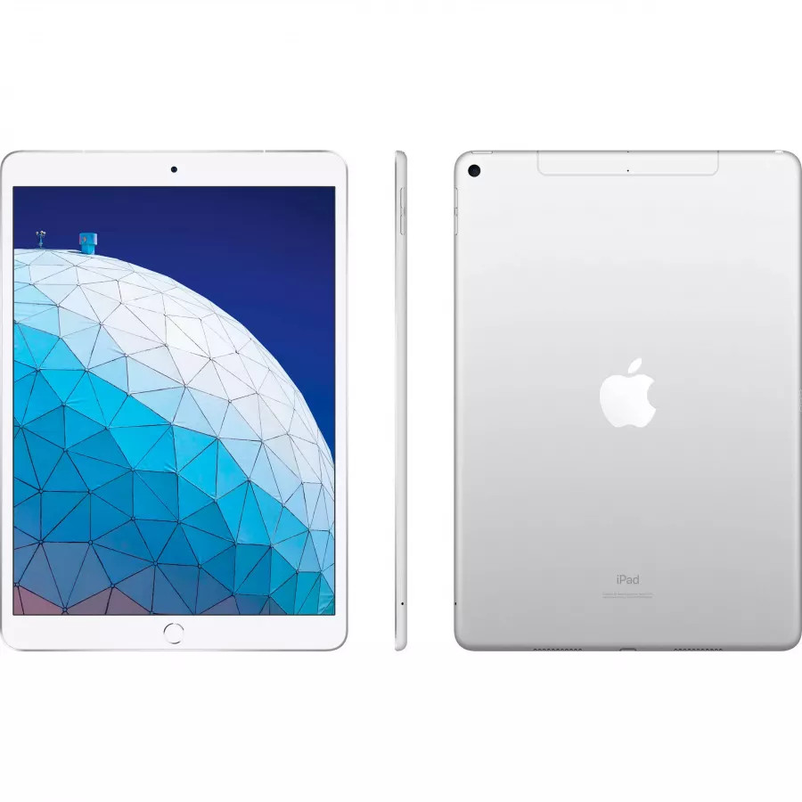 Apple iPad Air 10.5 (2019) 64ГБ Wi-Fi + Cellular - Серебристый (Silver). Вид 2