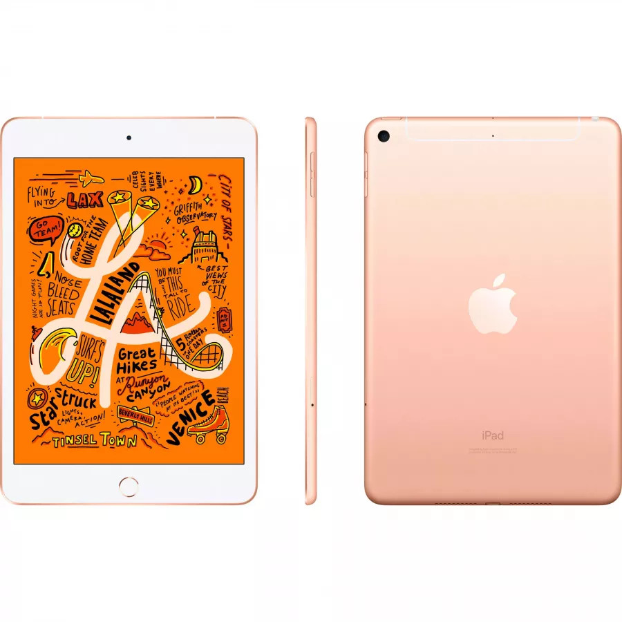 Apple iPad mini 5 256ГБ Wi-Fi + Cellular - Золотой (Gold). Вид 2