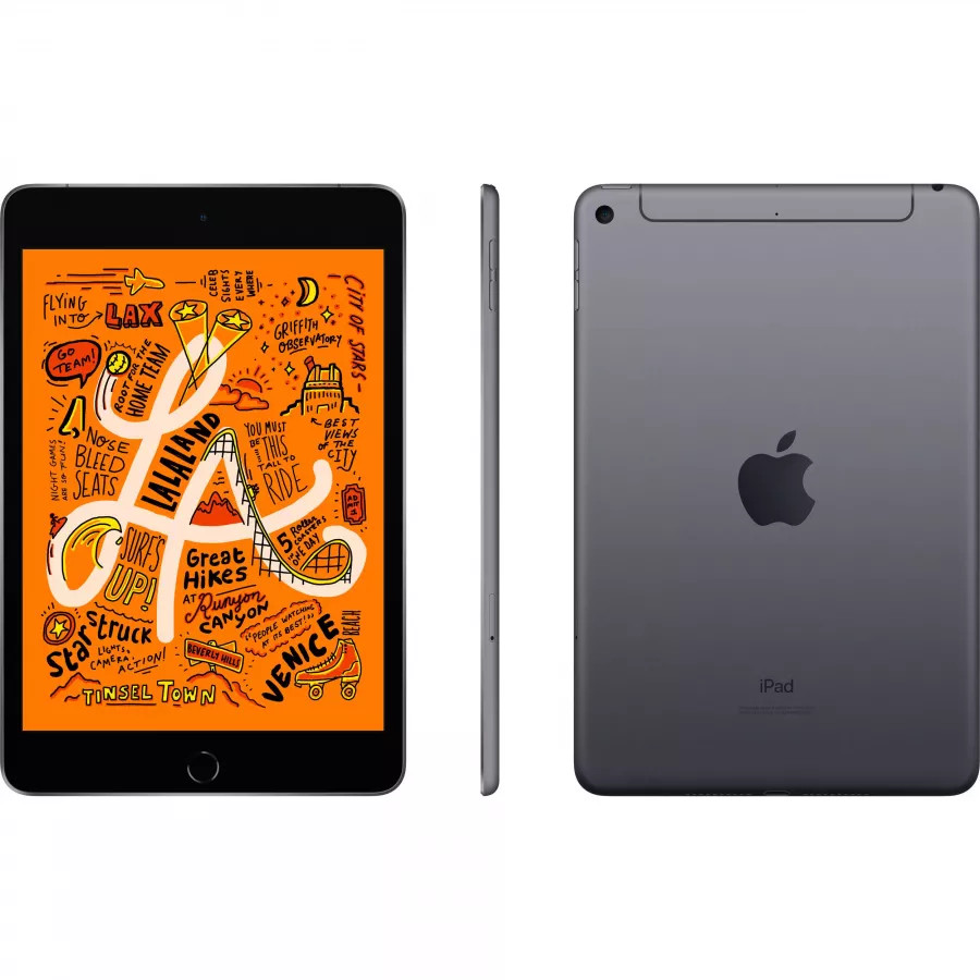 Apple iPad mini 5 64ГБ Wi-Fi + Cellular - Серый Космос (Space Gray). Вид 2