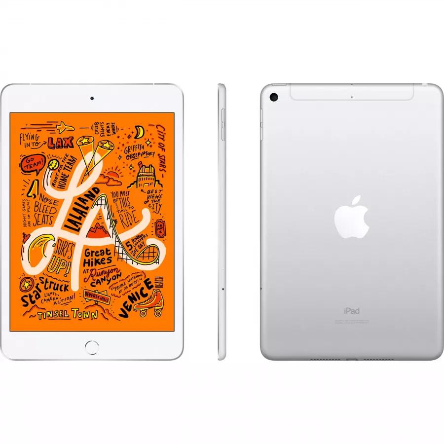 Apple iPad mini 5 64ГБ Wi-Fi + Cellular - Серебристый (Silver). Вид 2