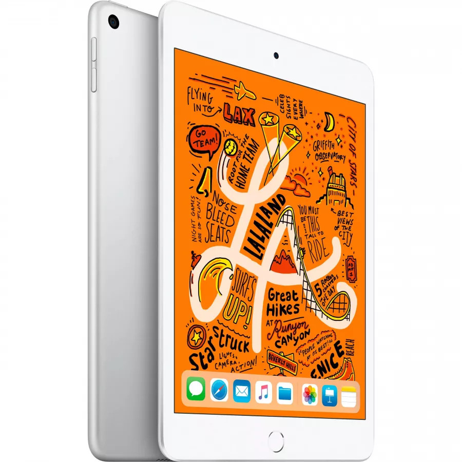 Apple iPad mini 5 64ГБ Wi-Fi - Серебристый (Silver). Вид 1