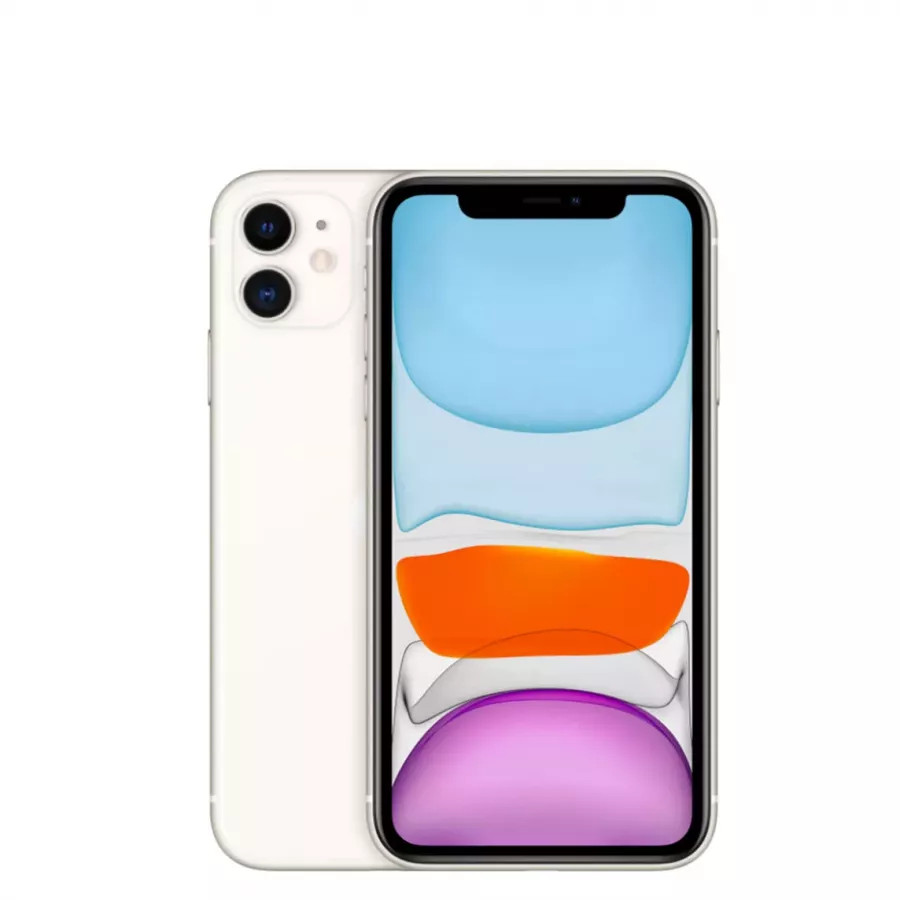 Apple iPhone 11 64ГБ Белый (White). Вид 1