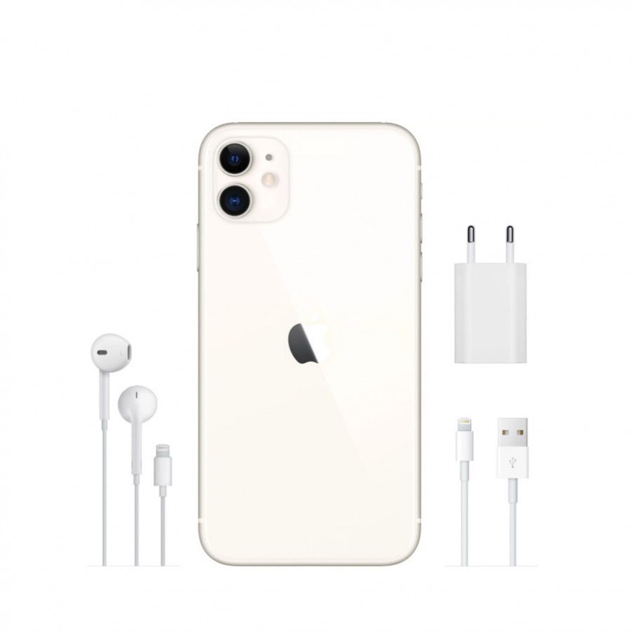 Apple iPhone 11 64ГБ Белый (White). Вид 4