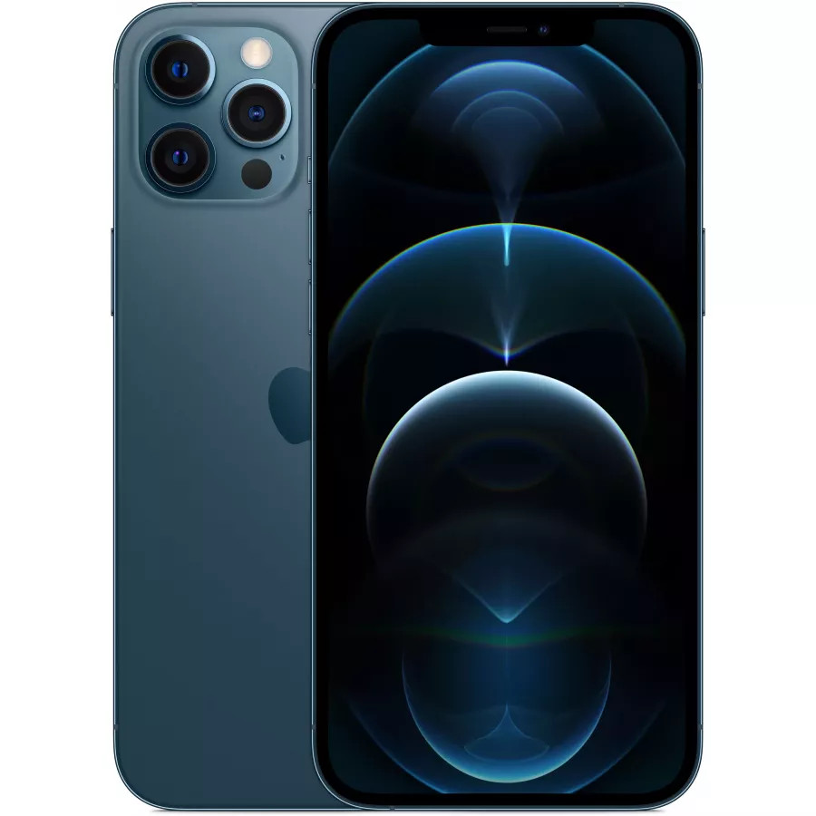 Apple iPhone 12 Pro Max 128ГБ Pacific Blue (Тихоокеанский синий). Вид 1