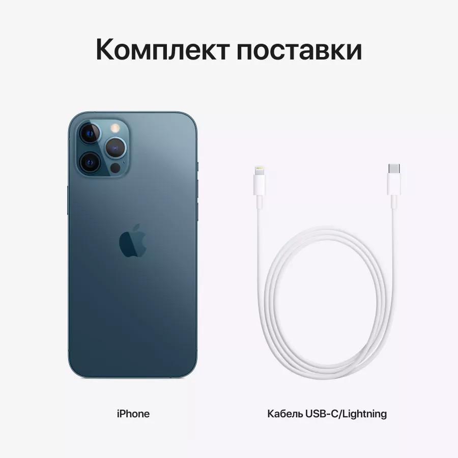 Apple iPhone 12 Pro Max 128ГБ Pacific Blue (Тихоокеанский синий). Вид 8