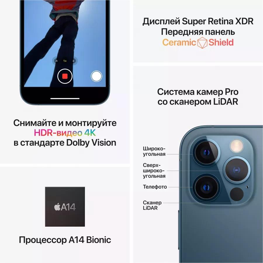 Apple iPhone 12 Pro 256ГБ Pacific Blue (Тихоокеанский синий). Вид 6