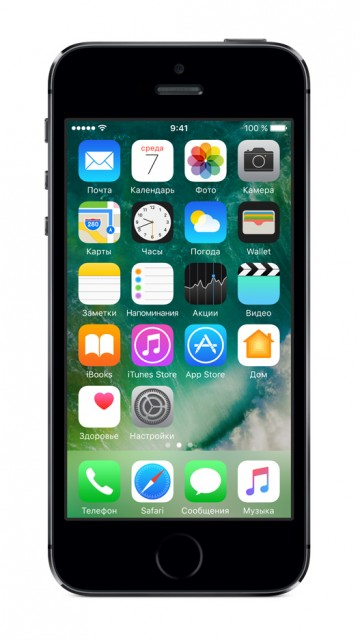 Apple iPhone 5s (6 mini) 16ГБ (Space Gray) Как новый. Вид 1