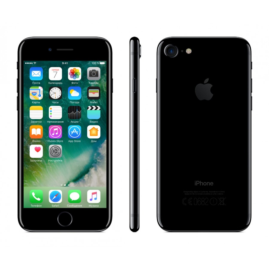 Купить Apple iPhone 7 128ГБ Jet Black в Сочи