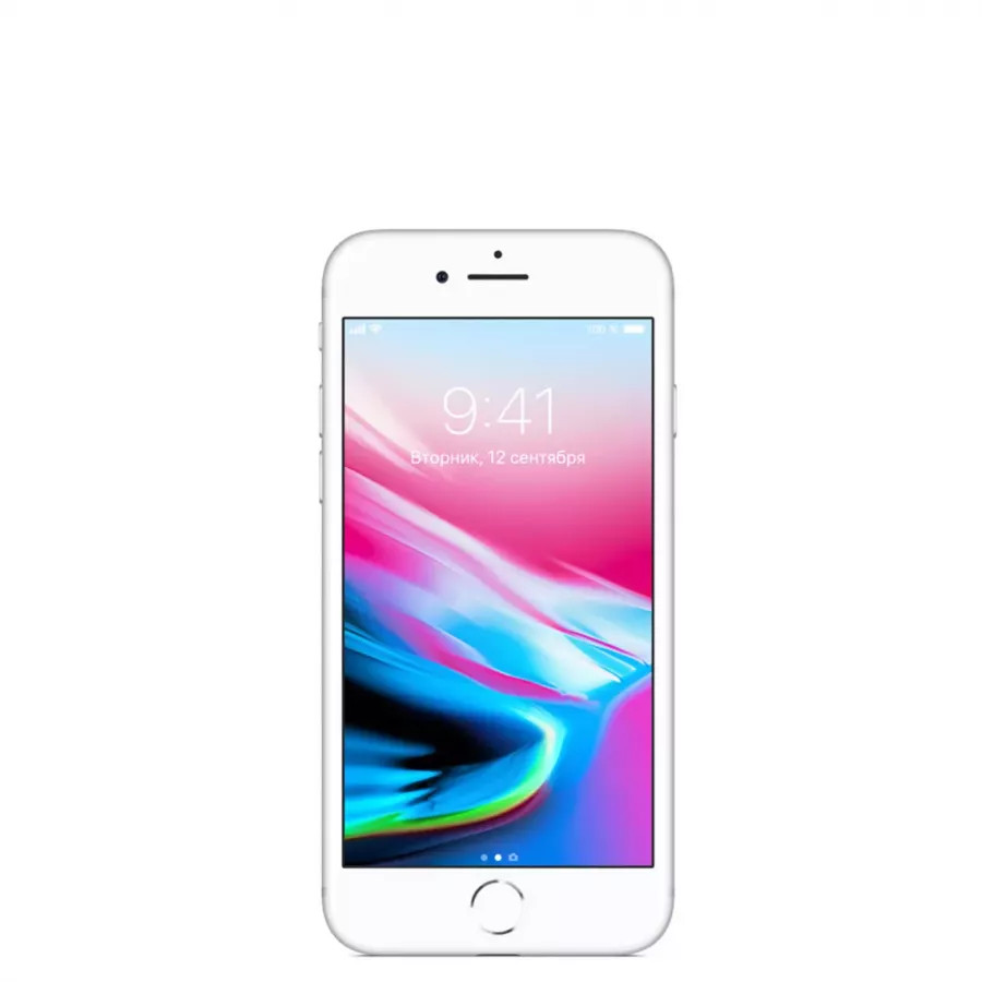 Apple iPhone 8 128ГБ Серебристый (Silver). Вид 1
