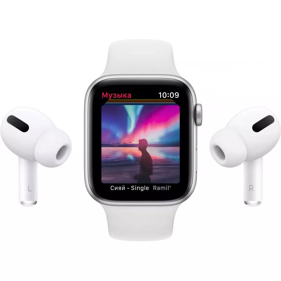 Apple Watch Series 6 44mm, золотистый алюминий, спортивный ремешок цвета «розовый песок». Вид 8