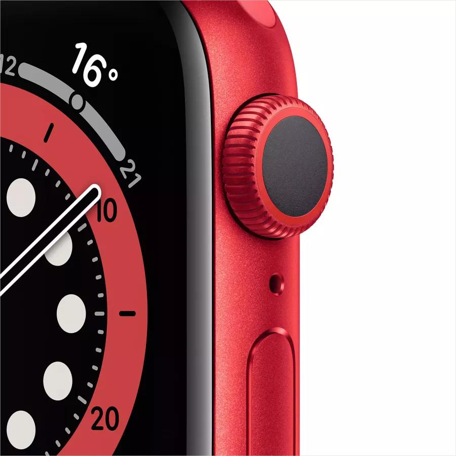 Apple Watch Series 6 40mm, алюминий цвета (PRODUCT)RED, спортивный ремешок красного цвета. Вид 2