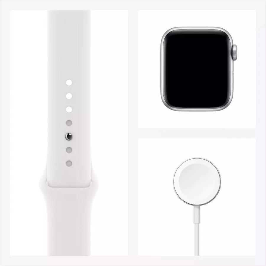 Apple Watch Series 6 40mm, серебристый алюминий, спортивный ремешок белого цвета. Вид 7