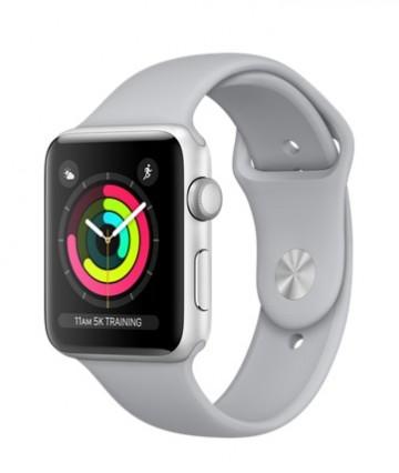Apple Watch Sport Series 3 42mm, серебристый алюминий, спортивный ремешок дымчатого цвета