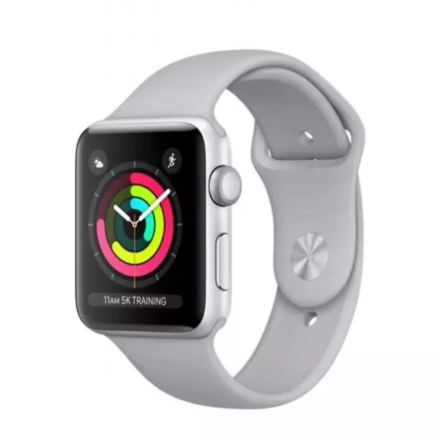 Купить Apple Watch Sport Series 3 42mm, серебристый алюминий, спортивный ремешок дымчатого цвета в Сочи