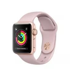 Apple Watch Sport Series 3 38mm, золотистый алюминий, спортивный ремешок цвета «розовый песок»