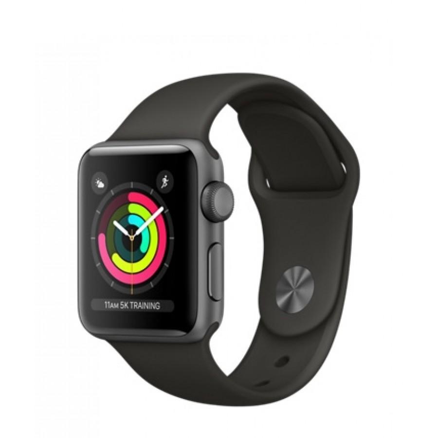Apple Watch Sport Series 3 38mm, алюминий «серый космос», спортивный ремешок серого цвета