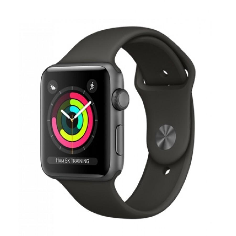 Apple Watch Sport Series 3 42mm, алюминий «серый космос», спортивный ремешок серого цвета