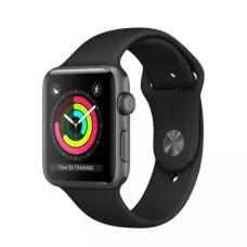 Apple Watch Sport Series 3 42mm, алюминий «серый космос», спортивный ремешок чёрного цвета