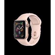 Apple Watch Series 4 40mm, золотистый алюминий, спортивный ремешок цвета «розовый песок»