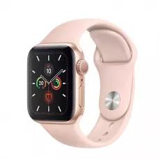 Apple Watch Series 5 40mm, золотистый алюминий, спортивный ремешок цвета «розовый песок»