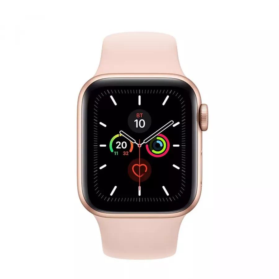 Apple Watch Series 5 40mm, золотистый алюминий, спортивный ремешок цвета «розовый песок». Вид 2