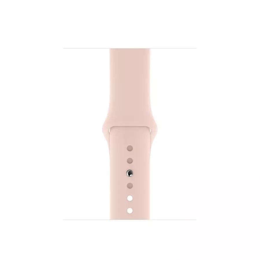 Apple Watch Series 5 40mm, золотистый алюминий, спортивный ремешок цвета «розовый песок». Вид 3