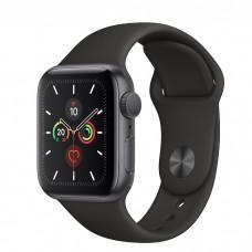 Apple Watch Series 5 40mm, алюминий цвета «серый космос», спортивный ремешок черного цвета