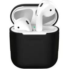 Силиконовый чехол для Apple AirPods - Черный