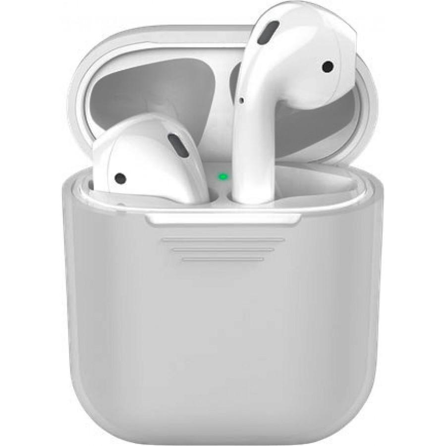 Купить Силиконовый чехол для Apple AirPods - Серый в Сочи