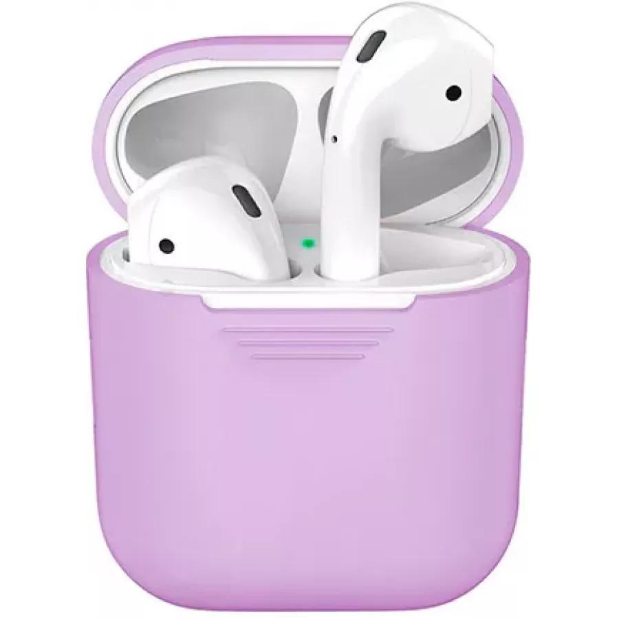 Купить Силиконовый чехол для Apple AirPods - Фиолетовый в Сочи