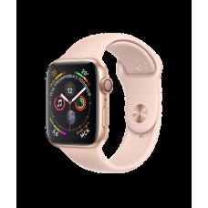 Apple Watch Series 4 44mm, золотистый алюминий, спортивный ремешок цвета «розовый песок»