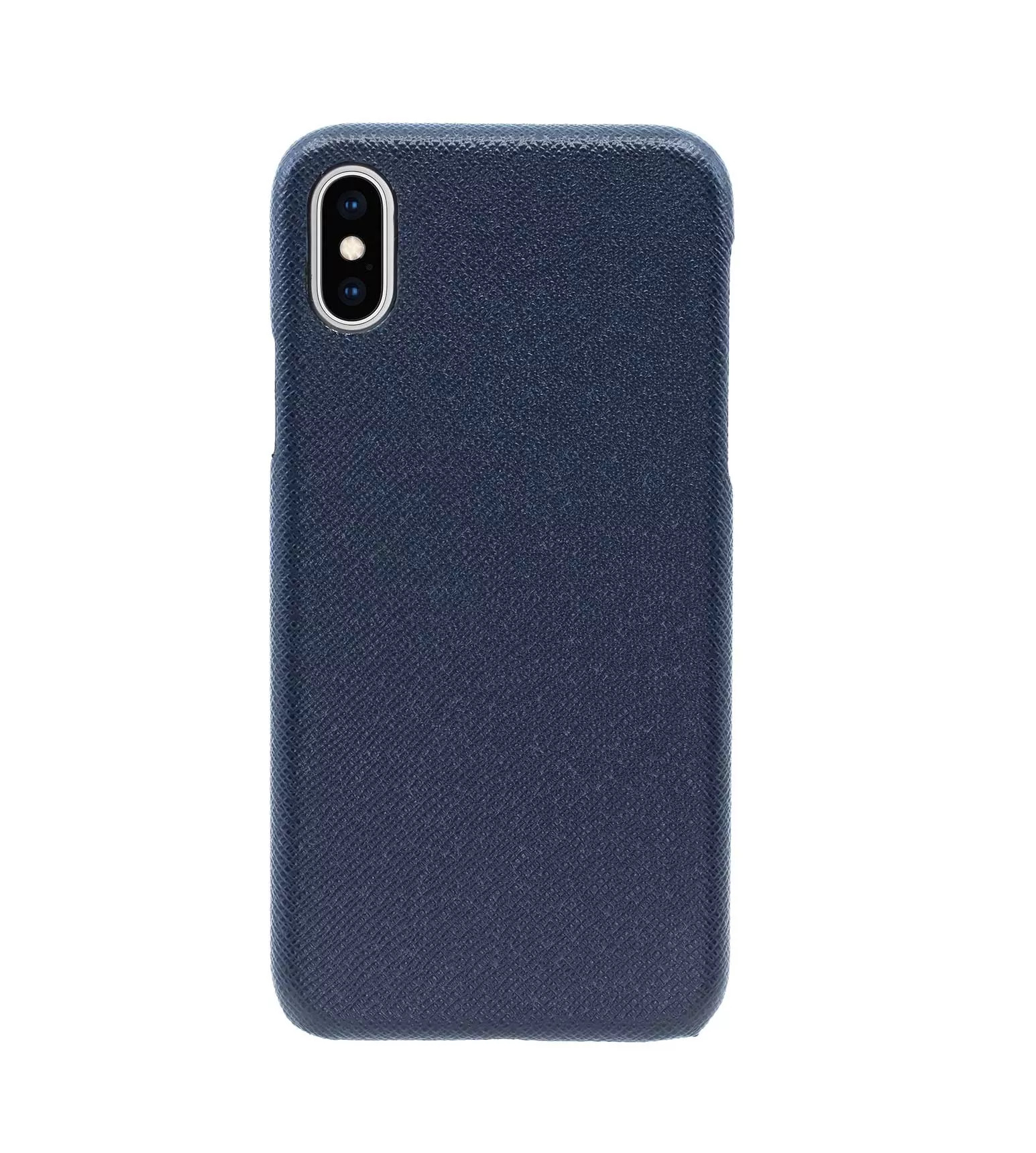 Купить Чехол Natural Cow Tiffany Leather Case для iPhone X/XS - Темно-синий (Dark Blue) в Сочи