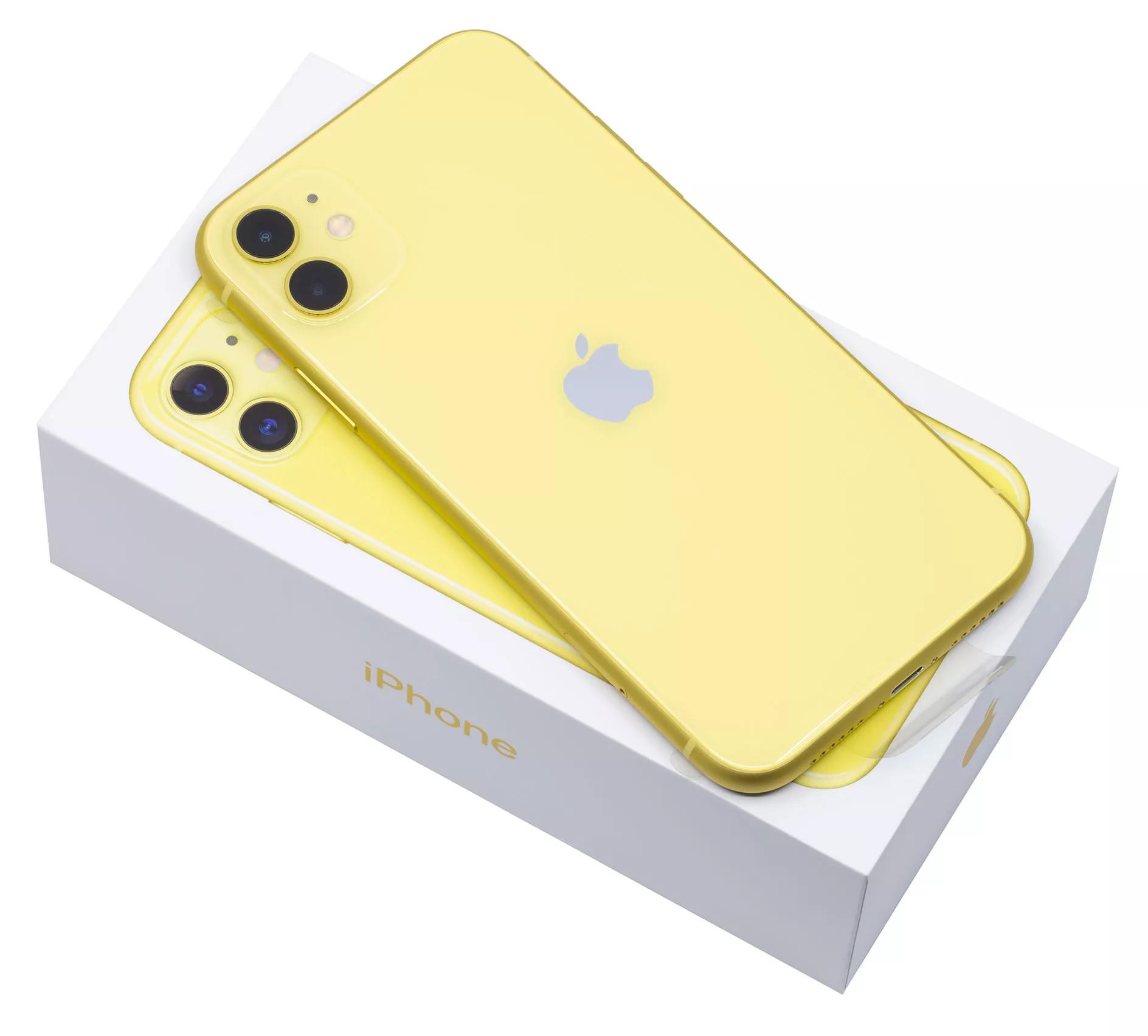 iphone 11 64гб желтый